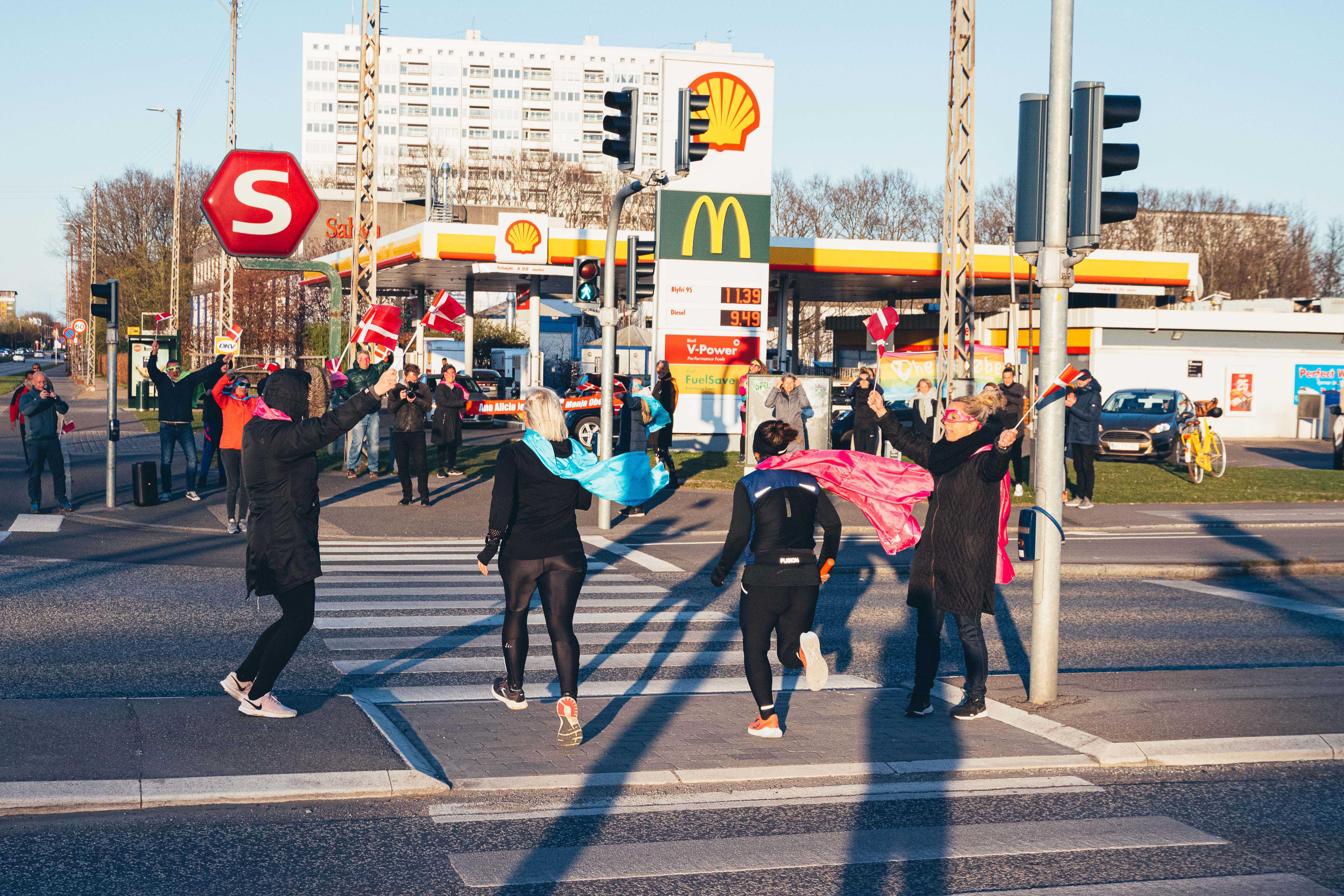 Helteløbere på vej til København